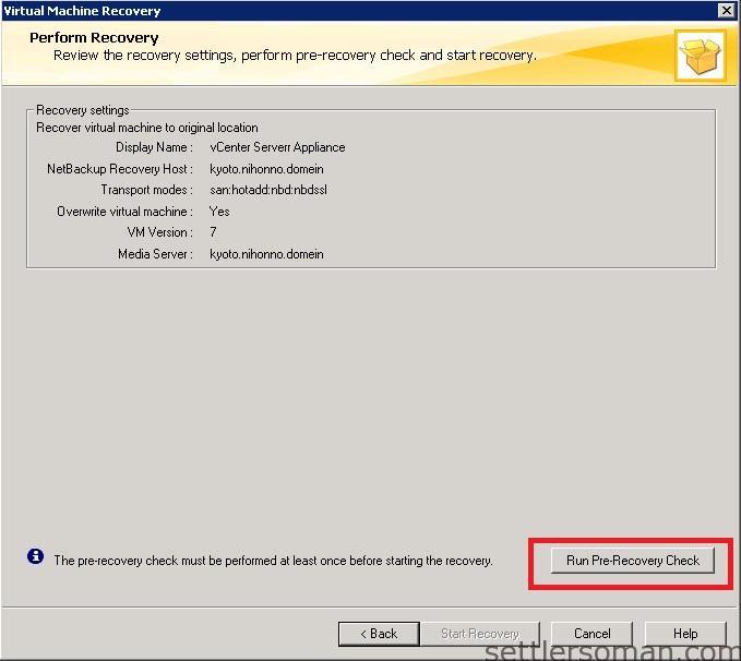 NetBackup - restore VMware VM backup 11