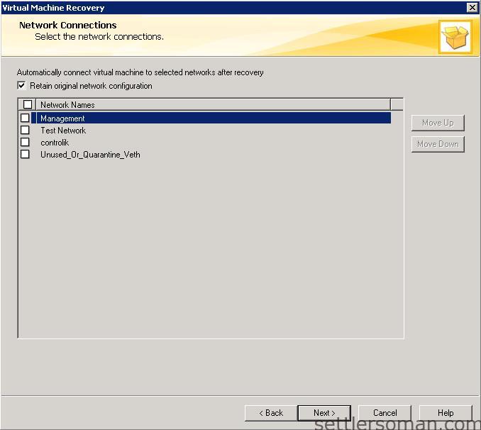 NetBackup - restore VMware VM backup 15