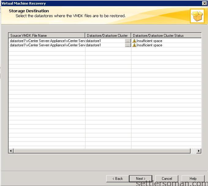 NetBackup - restore VMware VM backup 16