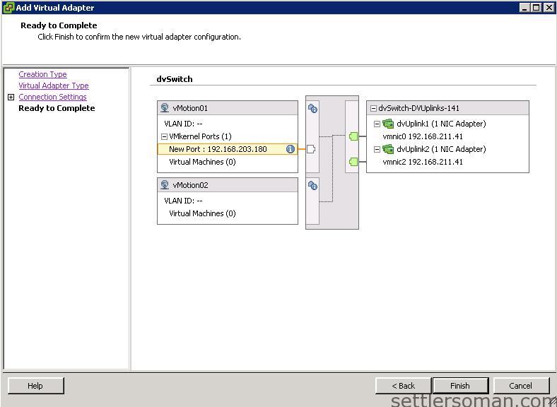 Set up Multi-NIC vMotion on vDS via vSphere Client 10