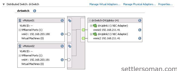 Set up Multi-NIC vMotion on vDS via vSphere Client 11