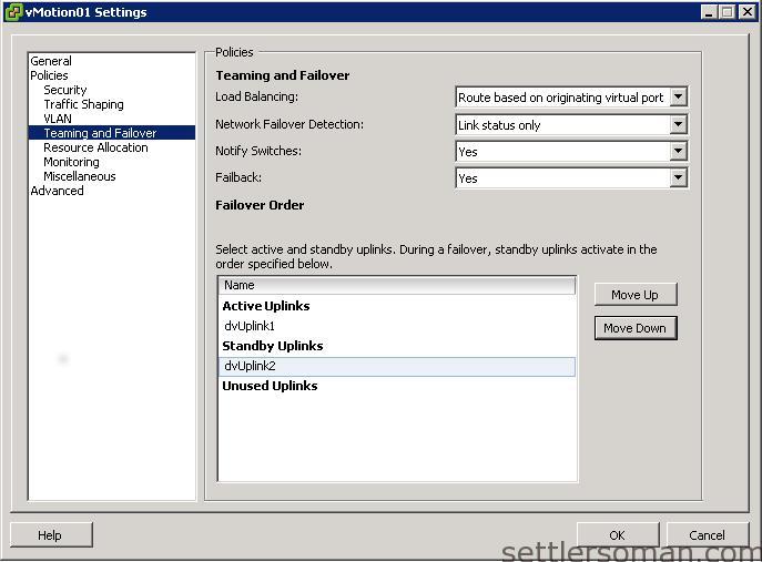 Set up Multi-NIC vMotion on vDS via vSphere Client 4