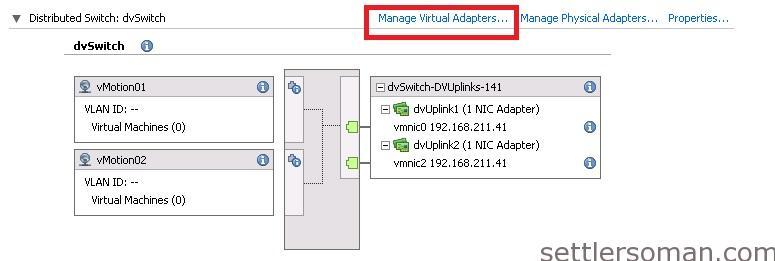Set up Multi-NIC vMotion on vDS via vSphere Client 6