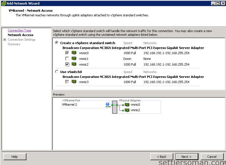 Set up Multi-NIC vMotion on vSS via vSphere Client 2