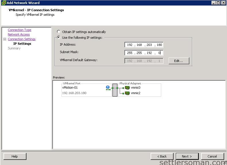 Set up Multi-NIC vMotion on vSS via vSphere Client 4