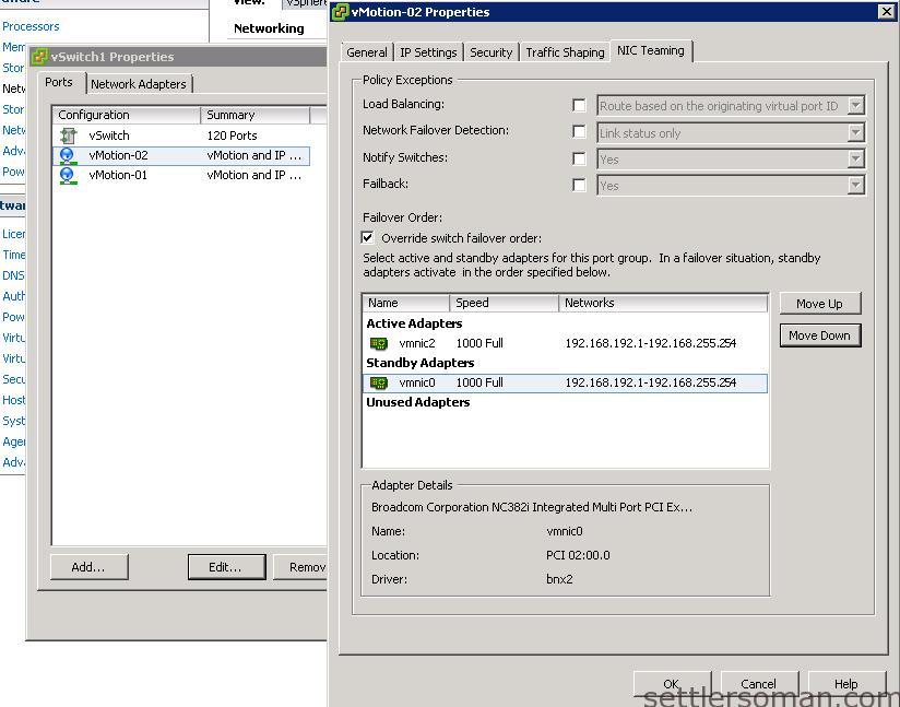 Set up Multi-NIC vMotion on vSS via vSphere Client 7