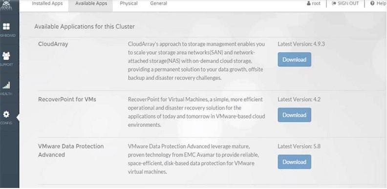 EMC VSPEX Blue powered by VMware EVO RAIL Market