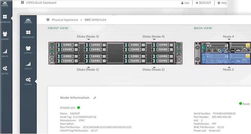EMC VSPEX Blue powered by VMware EVO:RAIL - Overview. - Blue Manager