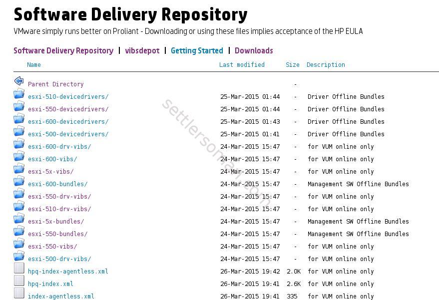VMware vSphere on HP ProLiant Server: Driver and online offline firmware deployment options - SDR