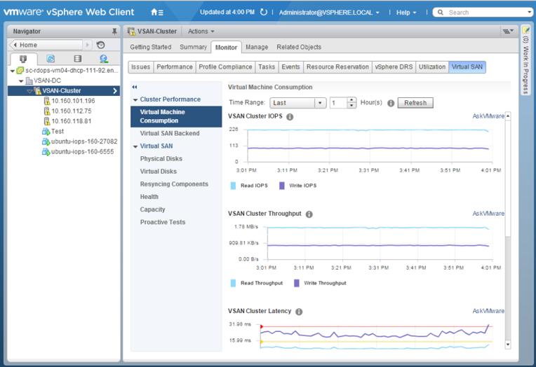 VSAN 6.2 - Monitoring