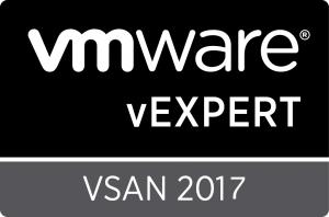 vExpert vSAN 2017
